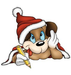 Christmas and Puppy Dog vector image