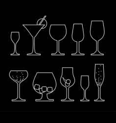 drink silhouettes vector image vector image