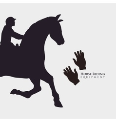 Horse ridding design equipment icon isolated vector image vector image