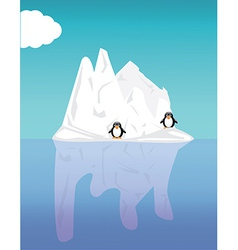 Iceberg and penguin vector image