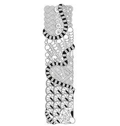 letter i zentangle decorative object vector image