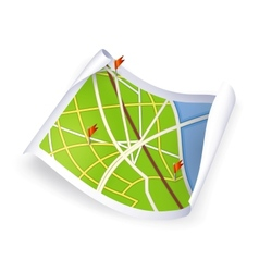 Road Map vector image vector image