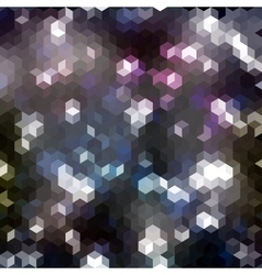 Seamless abstract geometric pattern with hexagons vector