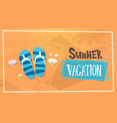 summer vacation sea travel retro banner seaside vector image vector image