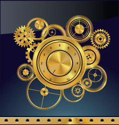 Abstract gear background vector image vector image