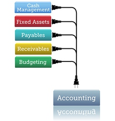 Accounting financial books plug in vector image vector image