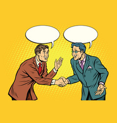 business negotiations businesspeople shaking hands vector image vector image