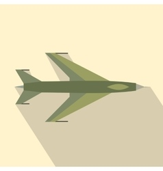 New flying jet fighter flat icon vector image