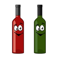 Two bottles of wine vector image