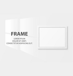 3d realistic white horizontal wooden simple vector image