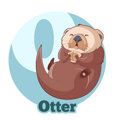 abc cartoon otter vector image