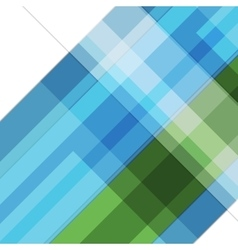 Abstract blue green geometric tech background vector image