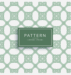 Abstract islamic style pattern design vector