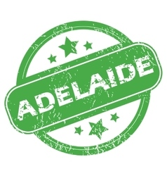 Adelaide green stamp vector