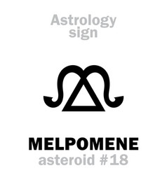 astrology asteroid melpomene vector image