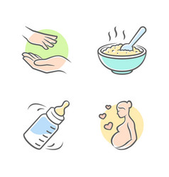 Baby care icons vector