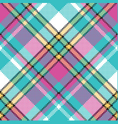 baby color check fabric pixel texture seamless vector image