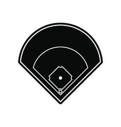 Baseball field black simple icon vector image