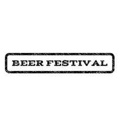 Beer festival watermark stamp vector