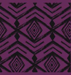 Black tribal navajo seamless pattern vector