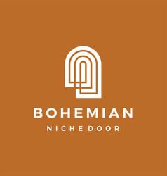 Boho niche door bohemian logo icon vector