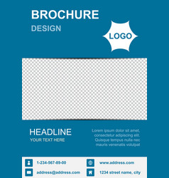 Brochure template flyer background for business vector