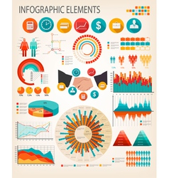 Business infographics flat template vector