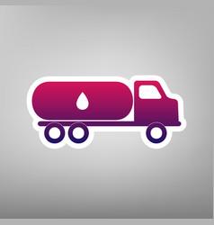 Car transports oil sign purple gradient vector