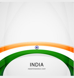celebrating india independence day vector image