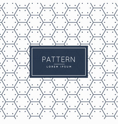 clean hexagonal shape pattern background vector image