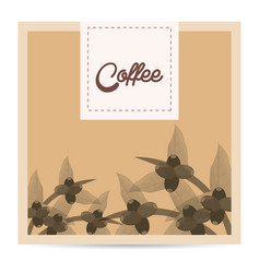 Coffee tree beans nature poster vector