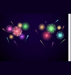 colorful festival fireworks banner for diwali vector image