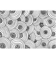 coloring page for adults circles and stripes ink vector image