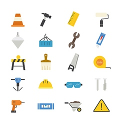 Construction Flat Icons color vector