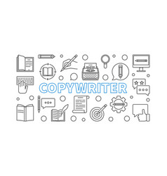 copywriter outline or banner vector image