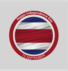 Costa rica independence day 15 september vector
