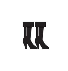 cowboy boots black concept icon cowboy vector image