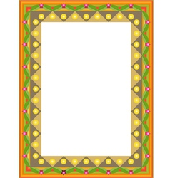 Decorative framework vector image