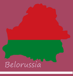 Detailed map belarus with national flag vector