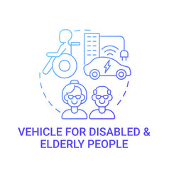 Disabled and old persons vehicle concept icon vector