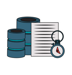 Documents files system archives cartoon vector