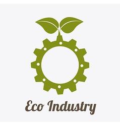 Eco industry design vector