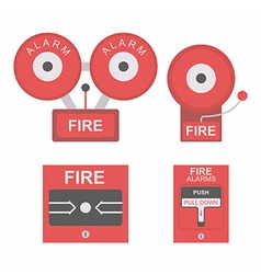 Fire alarm flat icon vector