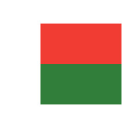 flag of madagascar in official rate and colors vector image