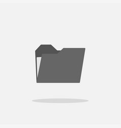 folder icon on gray background folder icon in vector image