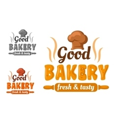 Fresh and tasty bakery emblem vector image