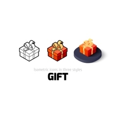 Gift icon in different style vector image