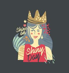 girl collage fashion tee shirt print vector image