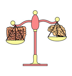 Gut versus brain concept vector