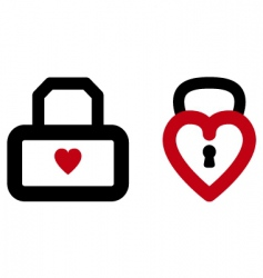 Heart lock vector
